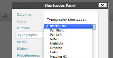 WordPress Themes Shortcodes