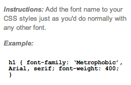 google web fonts paso 5