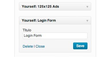 WordPress Themes Widgets