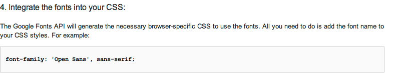 google web fonts paso 4