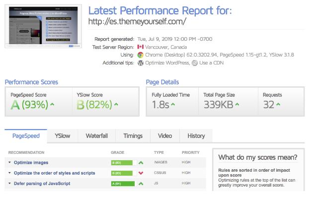 hosting factoria digital test velocidad